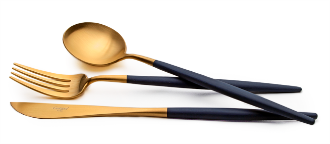 Cutipol Goa Blue, modern cutlery made in Portugal